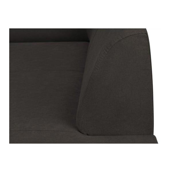 Tmavě šedá rohová rozkládací pohovka s úložným prostorem Kooko Home XL Right Corner Sofa Piano