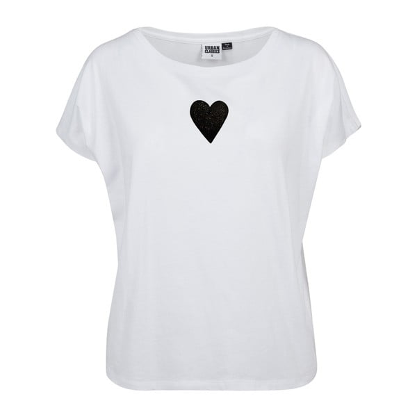 Fehér női póló Lena Brauner & IM Cyber Együtt motívumával, méret: L - KLOKART