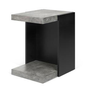 Măsuță TemaHome Klaus cu finisaj care imită betonul și detalii negre