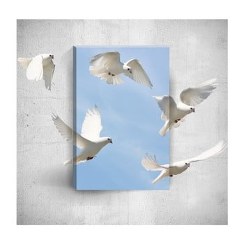 Tablou de perete 3D Mosticx Doves, 40 x 60 cm
