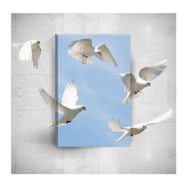 Nástěnný 3D obraz Mosticx Doves, 40 x 60 cm