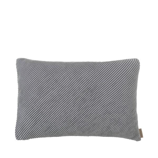 Šedý bavlněný povlak na polštář Blomus, 60x40cm