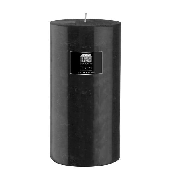 Svíčka 20 cm, černá, 160 hodin hoření