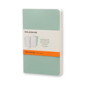 Caiet dictando Moleskine Volant, 80 pag., verde imagine
