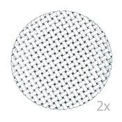 Set 2 farfurii din cristal Nachtmann Bossa Nova, diametru 32 cm
