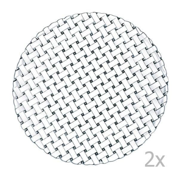 Sada 2 tanierov z krištáľového skla Nachtmann Bossa Nova, ⌀32 cm