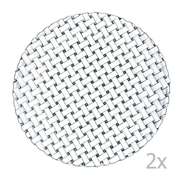 Zestaw 2 talerzy ze szkła kryształowego Nachtmann Bossa Nova, ø 32 cm