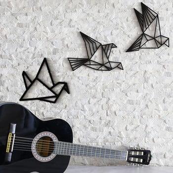 Set 3 decorațiuni de perete Fly Away, negru imagine