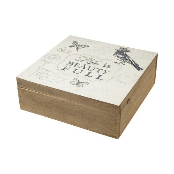Dřevěná krabička Life is Beauty Full