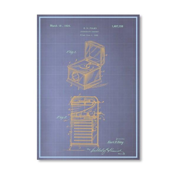 Plakát Phonograph Cabinet, 30x42 cm