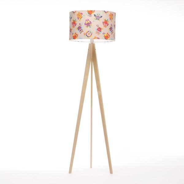 Pestrobarevná stojací lampa 4room Artist, bříza, 150 cm
