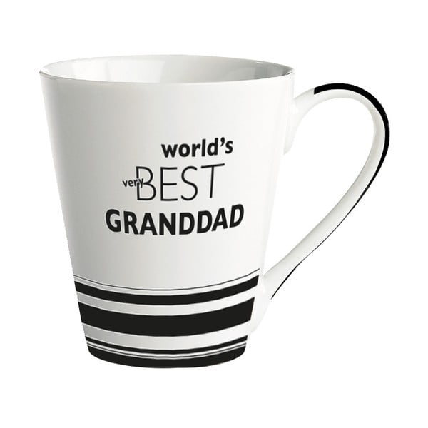 Cană porțelan KJ Collection World's best granddad, 300 ml