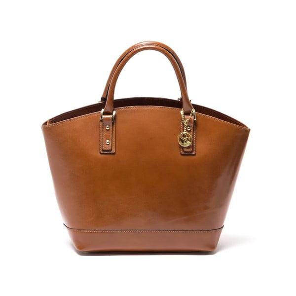 Kožená kabelka Sofia Cardoni 3016 Cognac