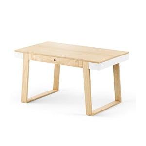 Jídelní stůl z dubového dřeva s bílými detaily Absynth Magh, 140x80cm