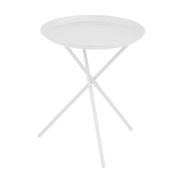 Bílý odkládací stolek Actona Clipston