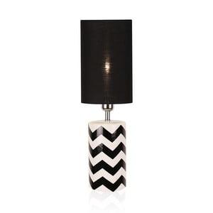 Černo-bílá stolní lampa GlobenLighting Ramses
