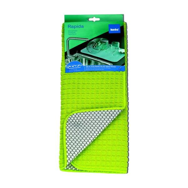 Zelená odkapávací rohožka Kela Rapida, 50x38cm
