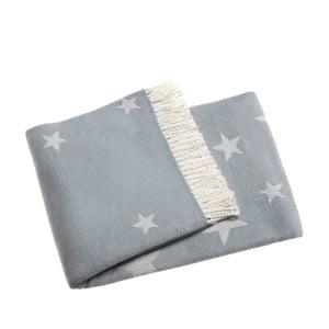 Světle modrá deka Euromant Stars 140x180 cm