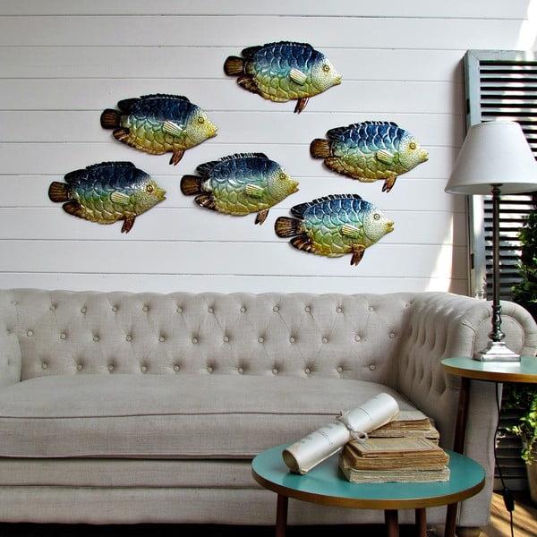 Nástěnná dekorace Fish, 6 ks