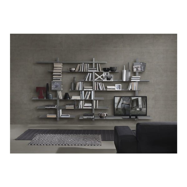 Knihovna Zefiro III Grey
