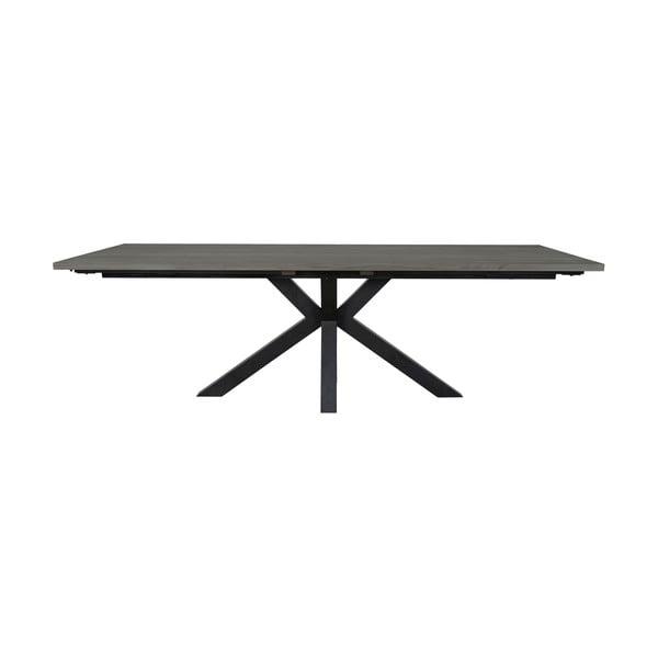 Šedý jídelní stůl s černýma nohama Canett Maison, 100x240cm