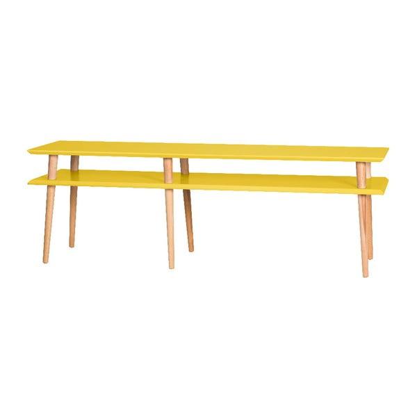 Mugo Yellow dohányzóasztal, 159 cm széles és 45 cm magas