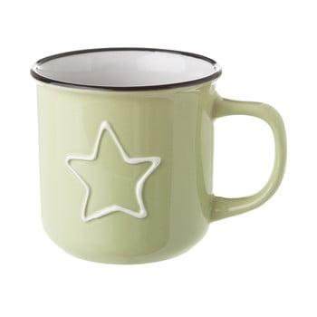 Cană din ceramică Unimasa Star, 325 ml, verde