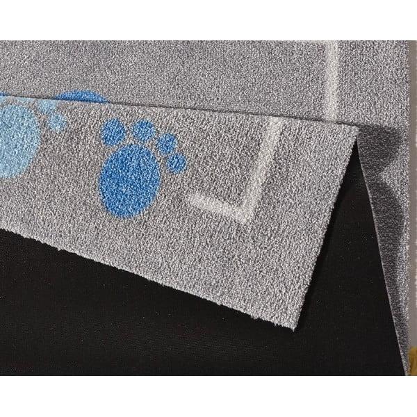 Dětský modro-šedý koberec Zala Living Teddy, 100x100cm
