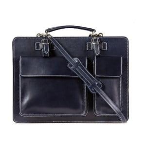 Tmavě modrá kožená taška přes rameno Italia in Progress Maestro