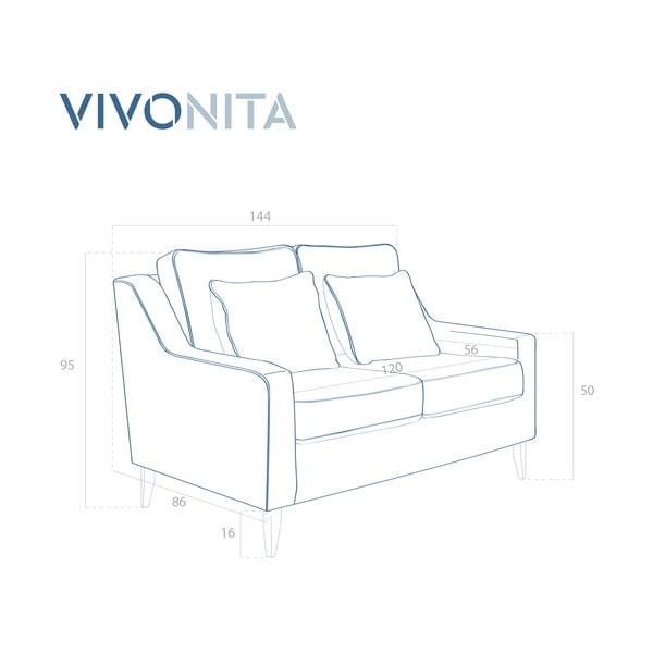Zelená dvoumístná pohovka Vivonita Bond