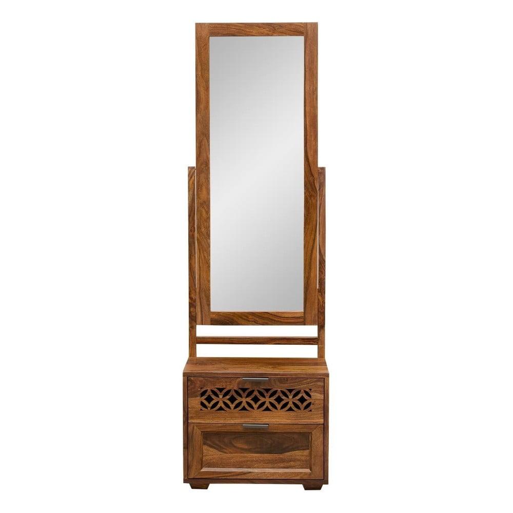 Toaletní stolek z masivního palisandrového dřeva se zrcadlem Massive Home Rosie