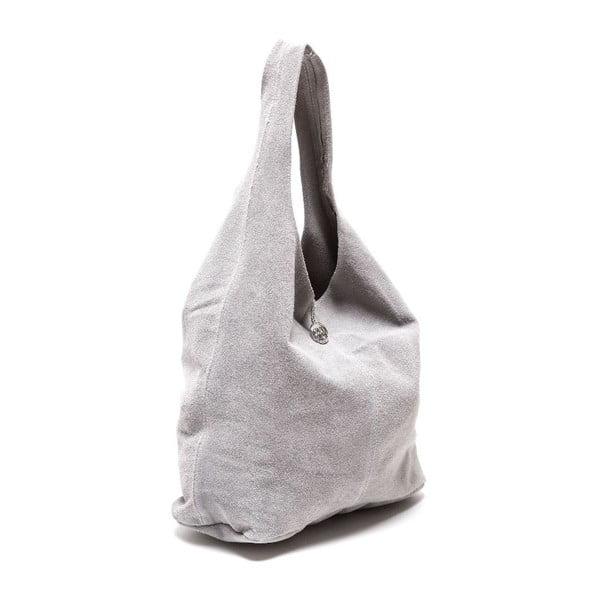 Šedá kožená kabelka Roberta M  885 Grigio