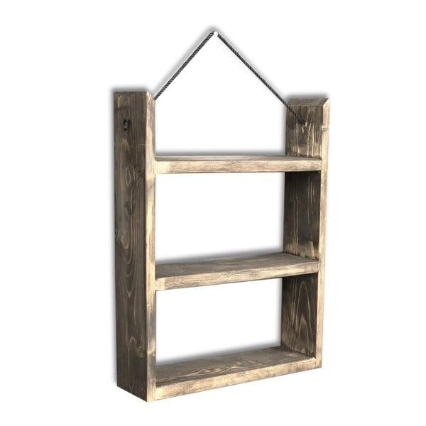 Etajeră suspendată din lemn House, 35 x 48 x 10 cm