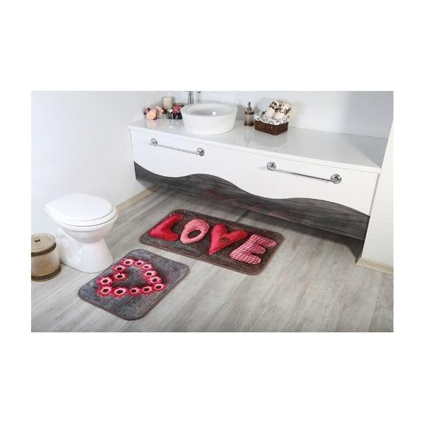 Sada 2 koupelnových předložek Aksu Love