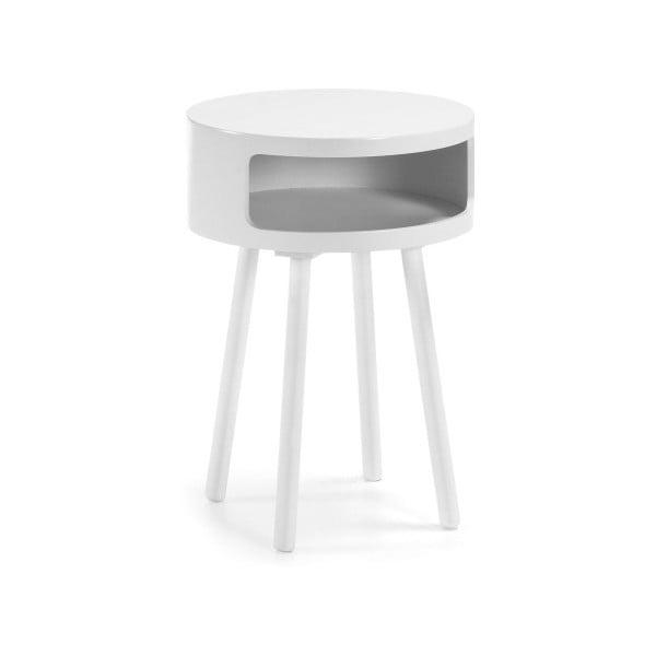 Bílý odkládací stolek s úložným prostorem La Forma Bruk