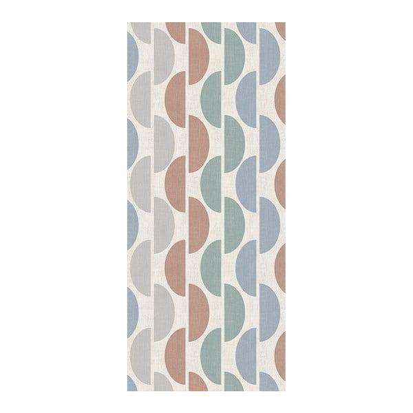 Šedo-modrý běhoun Floorita Halfmoon, 60 x 115 cm