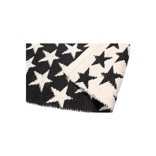 Oboustranný koberec Black Stars, 135x65 cm