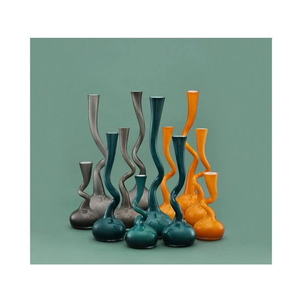 Skleněná váza Swing 40 cm, fialová