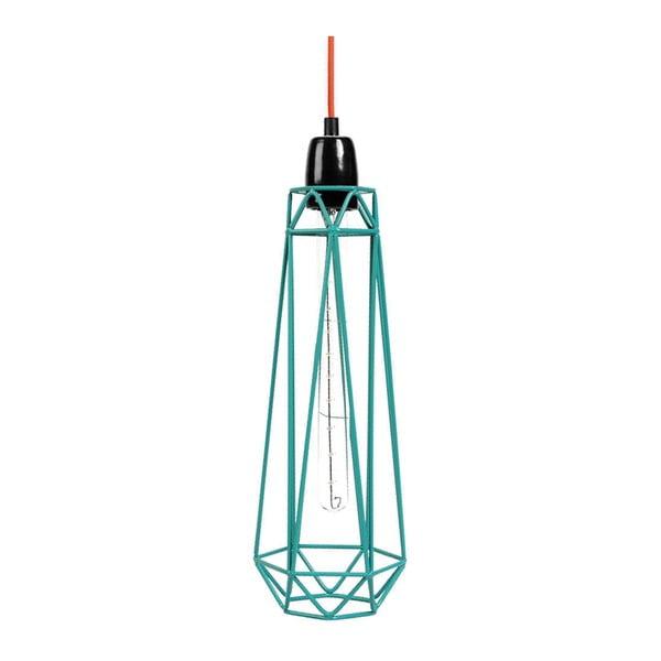 Světlo s modrým stínítkem a oranžovým kabelem Filament Style Diamond #2