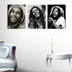 3dílný obraz Bob Marley, 45x90 cm