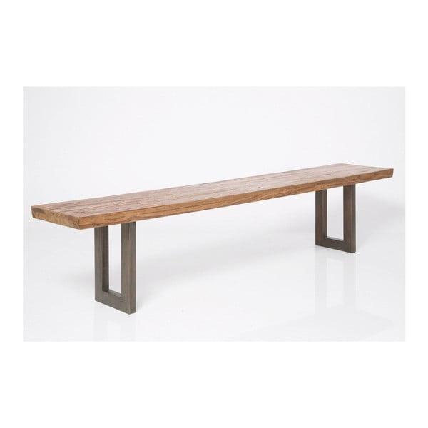 Lavice s deskou z teakového dřeva Kare Design Factory, 200cm