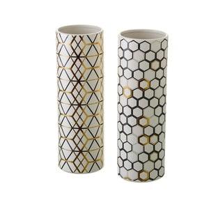 Sada 2 keramických váz Unimasa Pattern