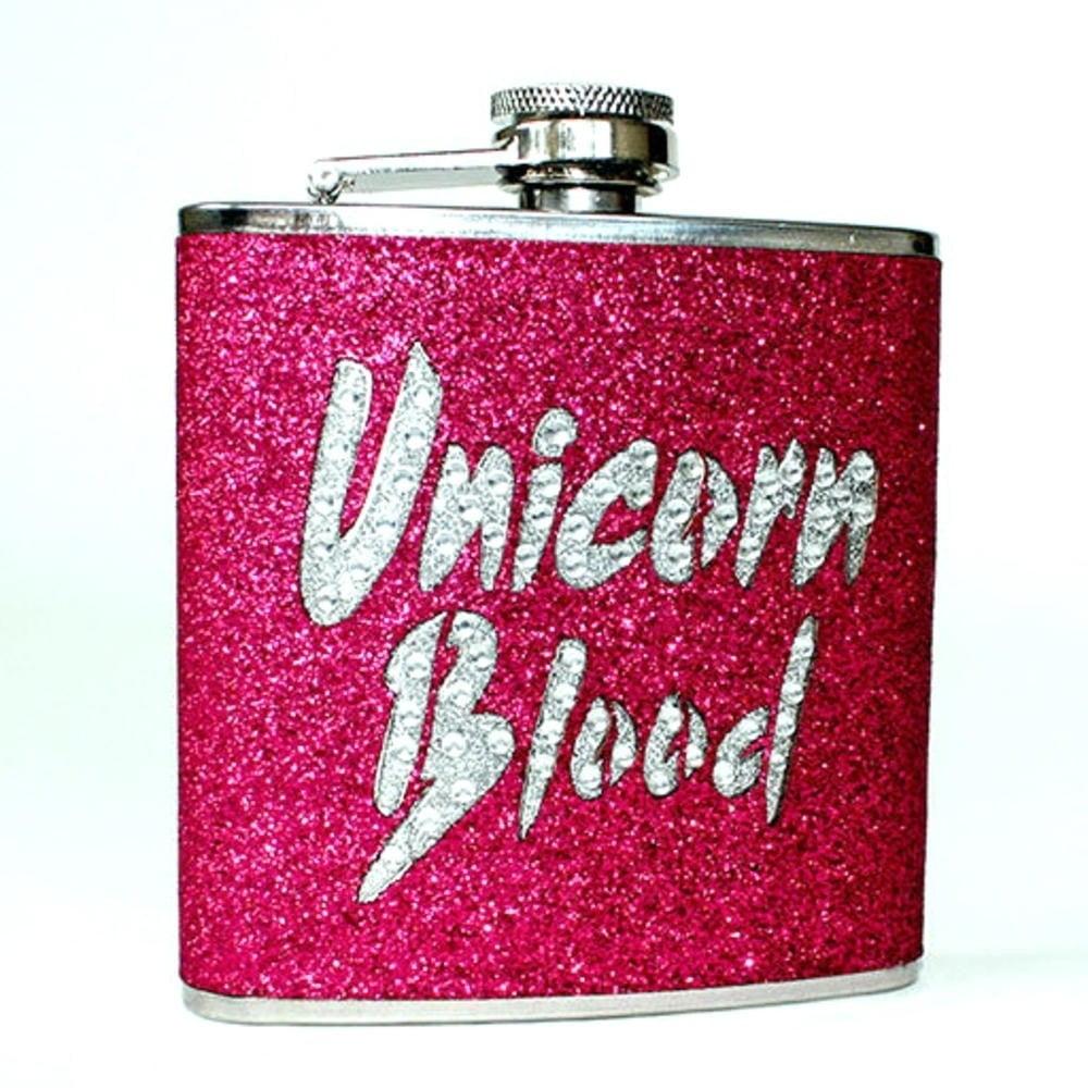 Růžová placatka Gift Republic Unicorn,170ml