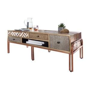 Kávový stolek s šuplíky z mangového dřeva Skyport FITTED