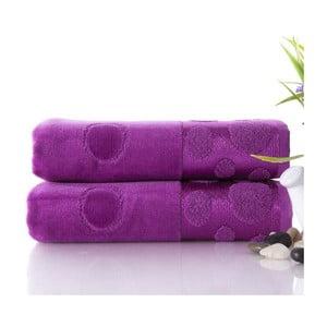 Sada 2 ručníků Tropical Plum, 50x90 cm