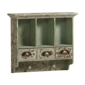 Dřevěná skříňka, antique green