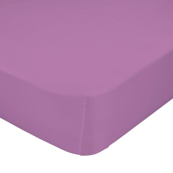 Elastické prostěradlo Purple, 60x120 cm