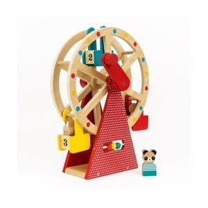 Dřevěné ruské kolo na kličku se 3 figurkami Petit collage Carnival