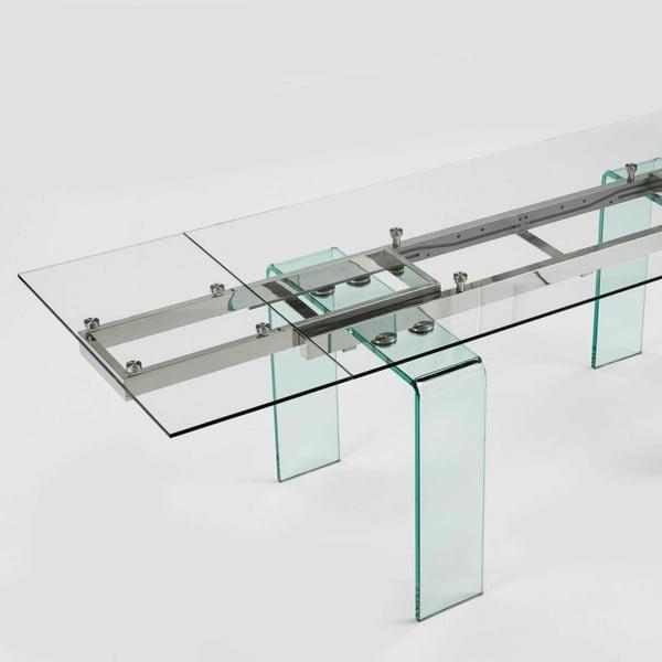 Jídelní skleněný stůl s možností rozložení Thai Natura, 240 x 80 cm