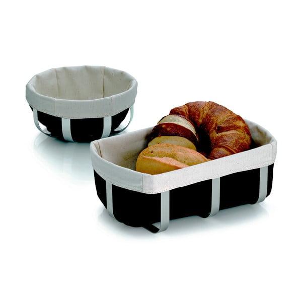 Kovový košík na chleba Moreno, 18x8.5 cm